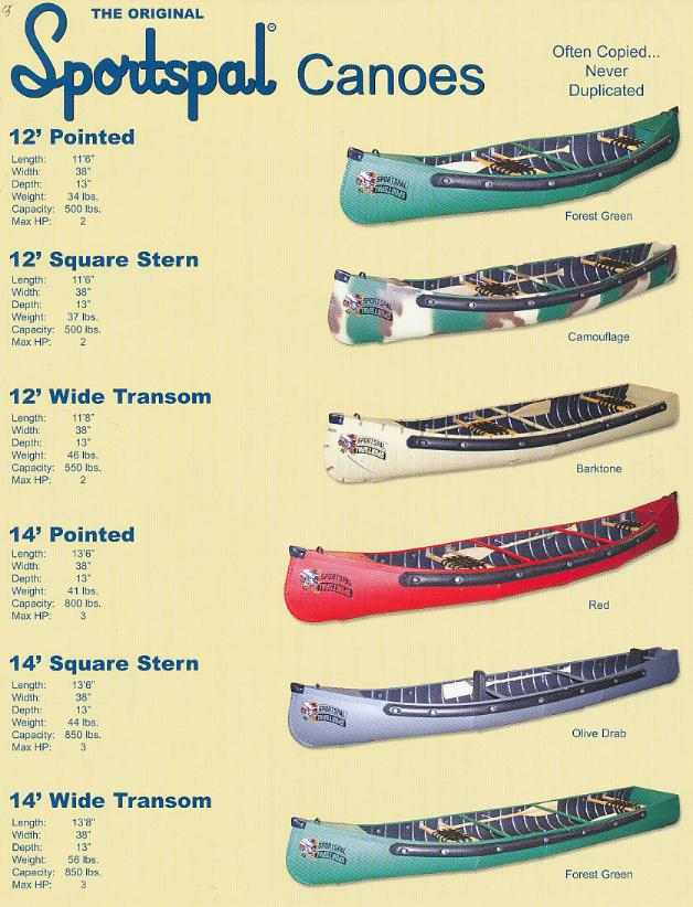 Sportspal Canoes - Click Image to Close
